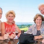 Our foursome enjoying the wines of Domaine Drouhin
