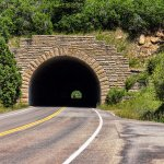 The drive up to the Mesa takes you through an unlit tunnel. Headlights on!