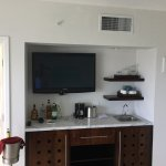 The suite's wet bar
