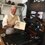 Awesome demonstration of Colonial Printing. My wife and I thought this was one of the best inter