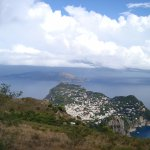 View from Mount Solare of Capri and the Mainland