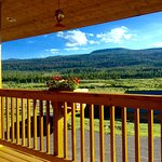 A view from the deck where you can enjoy dinner and drinks