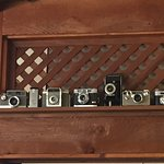 Old cameras - part of the eclectic decor
