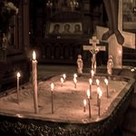 offertory candles inside the Cathedral