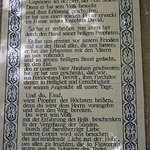 One of the tiles with the thanksgiving hymnof Zacharia
