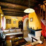 Living room of Red villa Faskomilia