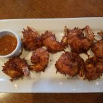 Overcooked coconut shrimp
