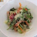 PERRINE SALAD (mixed greens, baby carrots, radishes, Comté cheese, sherry vinaigrette)