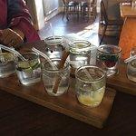 Mini gins tasting board