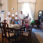 Chefs and children from baking class