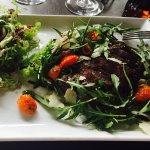 Carpaccio et Piccata de bœuf