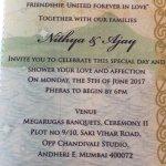 Nithya's and Ajay's wedding 🎩