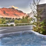 Outside Spa Pool with Mountain and Lake Views