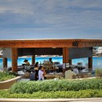 The swim-up bar -- this is in the morning as they are setting up. At happy hour, it gets crowded