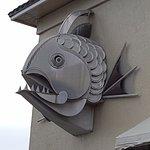 fish head exterior sculpture