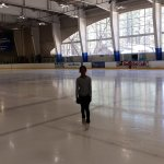 Our daughter in the Rink. Super Ice quality!