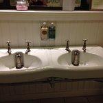 Original fittings in washrooms