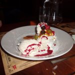Large Pavlova part of the Pre theatre special dinner