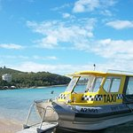 Speed water taxi that can be booked at the ship temrinal.