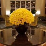 closeup of lobby roses