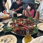 We ordered the family platter, so much food, great salads, fresh tabouli. More food than we coul