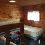 Back Sleep Cabin; bunk bed and twin bed