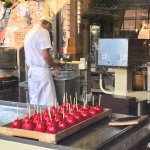 Ole Smoky Candy Kitchen making Candy Apples