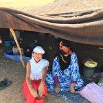 local Berber lady in tent