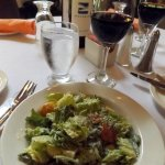 Caesar salad with real bacon bits and croutons made from the Bridgewater's signature bread