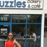 Cute girl in front of Puzzles