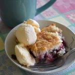 Yummy Evening dessert. Cherry Berry Cobbler.