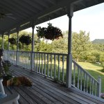 Peaceful front porch at the main house.