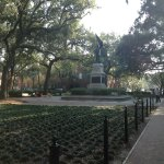 One of the many squares in Savannah.