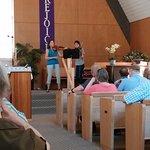 Music is part of many of the Sunday worship services at St. John's Chapel by the Sea (PCUSA).