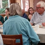 Lunch follows Sunday worship in the Fellowship Hall at St. John's Chapel by the Sea (PCUSA).