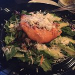 The salmon, avocado, feta cheese salad.