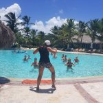 Guests at the beautiful Sanctuary Cap Cana are enjoying the Zumba classes with NRG2GO instructor