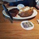 Sirloin steak and baked potato