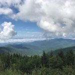 Clingmans Dome afternoon view from Clingmans Dome parking lot
