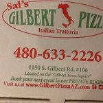 (Left picture) Sal's Pizza of Gilbert, closed Monday's. (Right picture) Baked Ziti Pizza on the
