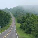 Talimena Scenic Highway, up in the clouds