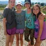 After a day on the river, our guide, Maddie (2nd from right) with our three daughters!