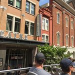 Going by Ford's Theater, where Lincoln was shot.