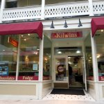 front of & entrance to Kilwins Chocolate Fudge & Ice Cream