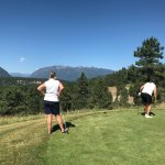 Checking out a challenging Par 3
