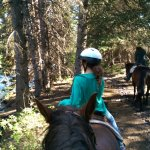 Horseback riding along water