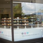 Stands of beautiful cupcakes baked daily!