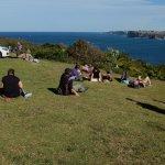 Nice slope for picnic besides car park