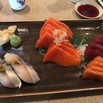Delicious nigiri and sashimi.