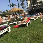 View from balcony, pool bar & sunbathing area